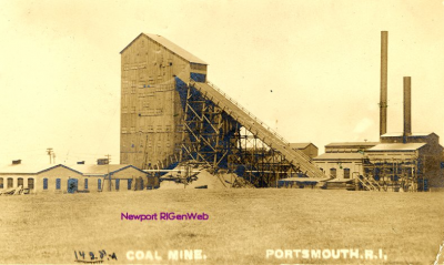 Postcard Portsmouth RI Coal Mine